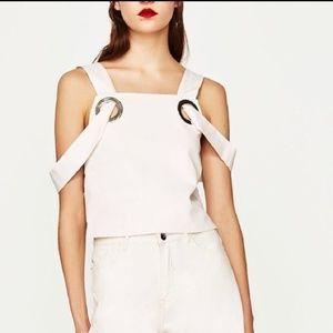 Zara Trafaluc Collection denim Top